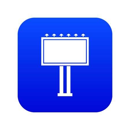 Advertising billboard icon digital blue Illustration