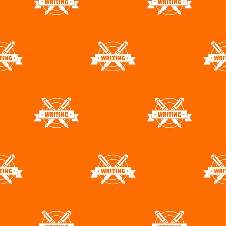 Writing pattern vector orange Иллюстрация