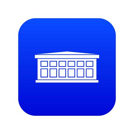 Building icon digital blue
