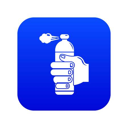 Spray insects icon blue vector Ilustracja