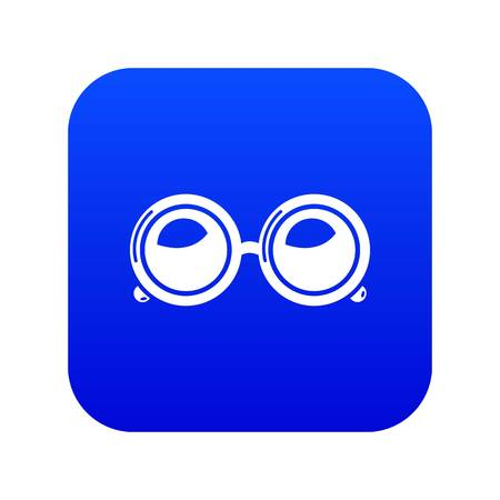 Spectacles icon blue vector Ilustracja