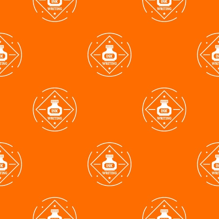 Writing ink pattern vector orange Иллюстрация