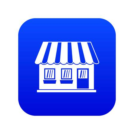 Shop icon digital blue