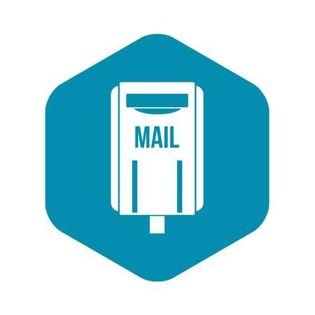 Post box icon, simple style