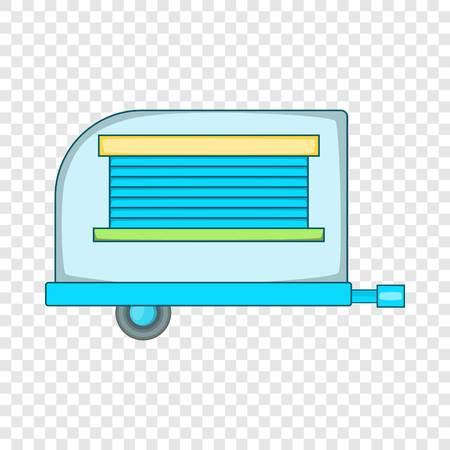 Old trailer icon. Cartoon illustration of old trailer vector icon for web design Illustration