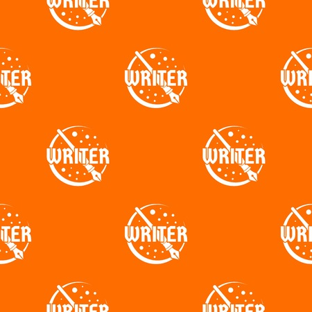 Writer pattern vector orange Иллюстрация
