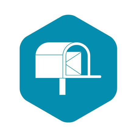Mailbox icon, simple style