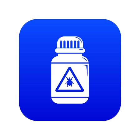 Poison insects icon blue vector