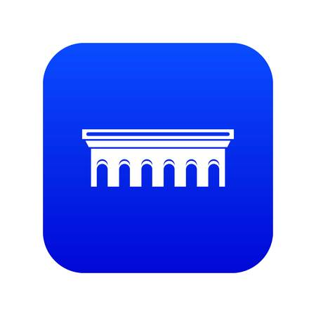 Bridge icon digital blue for any design isolated on white vector illustration Illustration