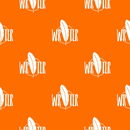 Writing pen pattern vector orange