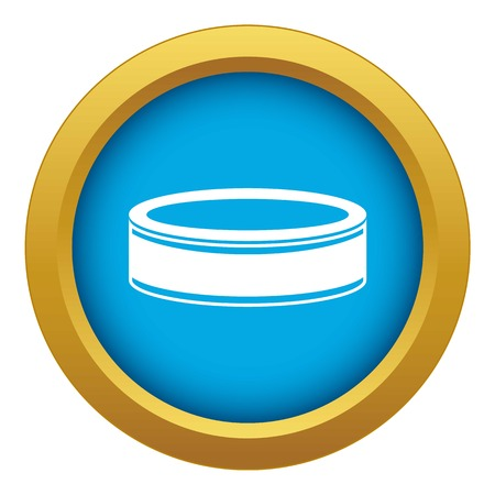 Puck icon blue vector isolated