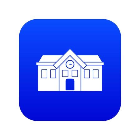Chapel icon digital blue Illustration
