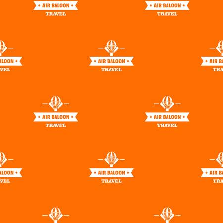 Vintage air balloon pattern vector orange for any web design best