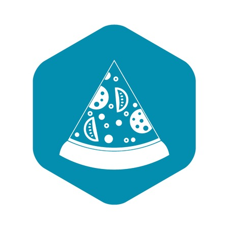 Slice of pizza icon. Simple illustration of slice of pizza vector icon for web