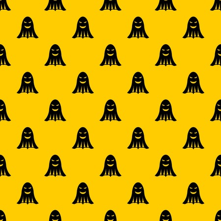 Ghost pattern seamless vector repeat geometric yellow for any design Illusztráció
