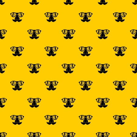 Clown face pattern seamless vector repeat geometric yellow for any design