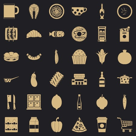 Official dinner icons set. Simple set of 36 official dinner vector icons for web for any design