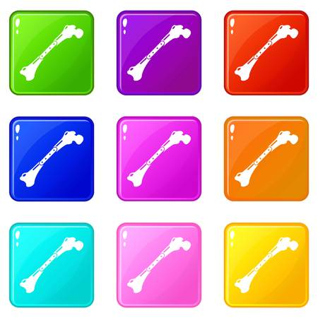 Broken bone icon. Simple illustration of broken bone vector icon for web.