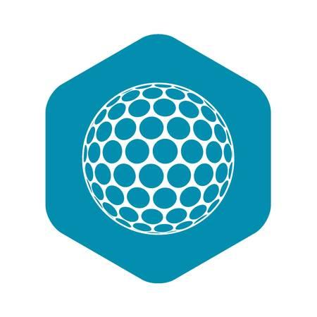 Black and white golf ball icon. Simple illustration of black and white golf ball vector icon for web Vektorgrafik