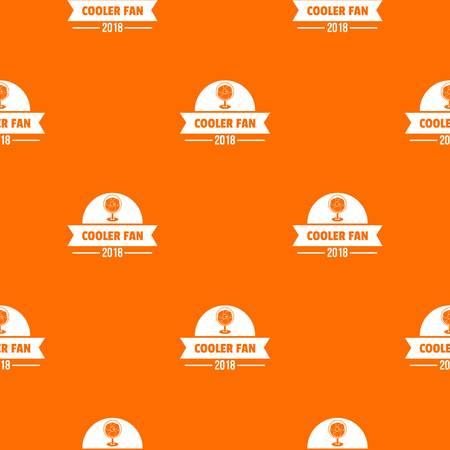 Fan cooler pattern vector orange Ilustração