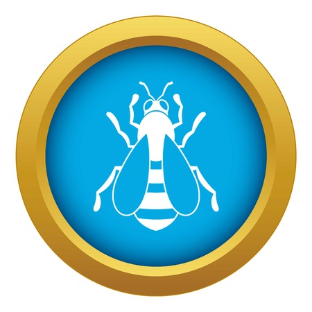 Bee icon blue vector isolated Vetores