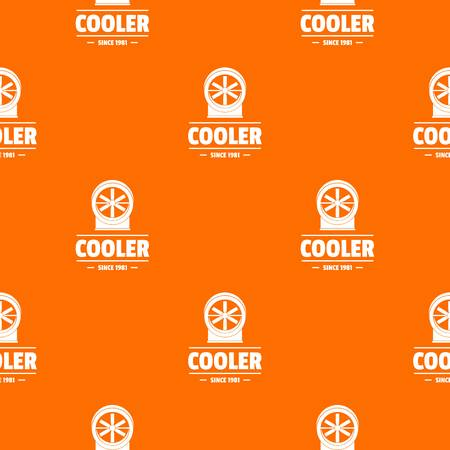 Power cooler pattern vector orange