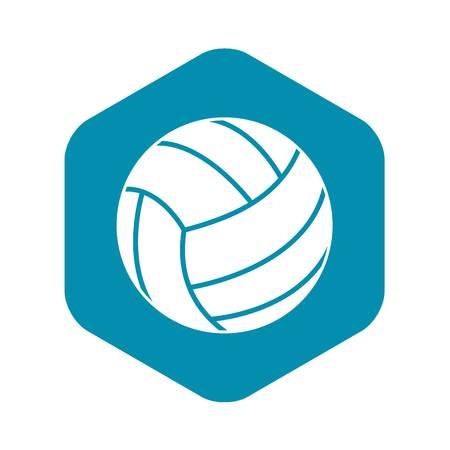 Black volleyball ball icon. Simple illustration of black volleyball ball vector icon for web Illustration