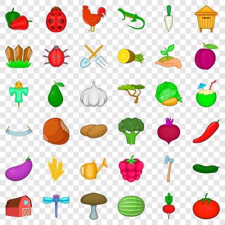 Pumpkin icons set. Cartoon style of 36 pumpkin vector icons for web for any design