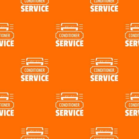 Service conditioner pattern vector orange for any web design best 向量圖像