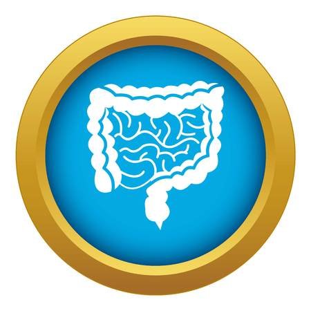 Intestines icon blue vector isolated on white background for any design Illustration