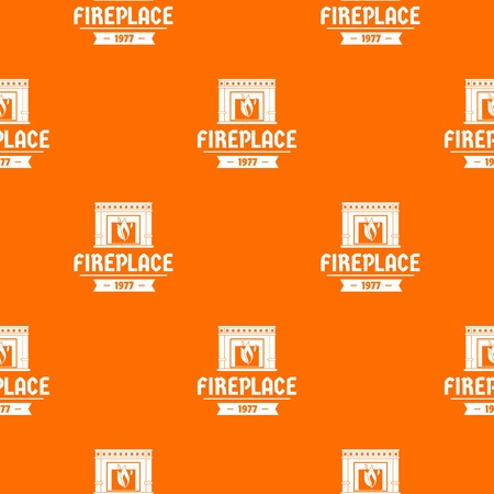 Fireplace pattern vector orange for any web design best