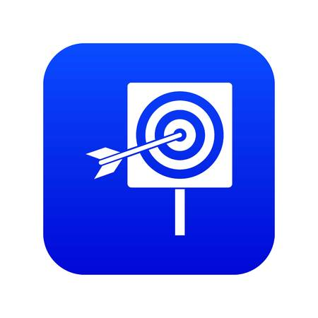 Darts icon digital blue for any design isolated on white vector illustration