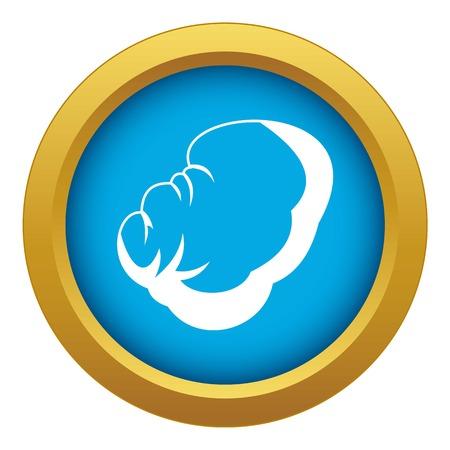 Spleen icon blue vector isolated on white background for any design Illustration