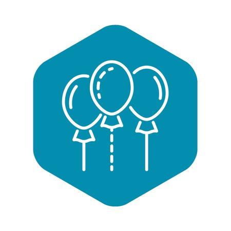 Group ballon icon. Outline group ballon vector icon for web design isolated on white background