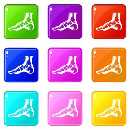 Xray of foot icon, simple style. Foto de archivo - 124343065