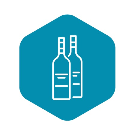 Drink bottle icon, outline style Stock Vector - 124343092