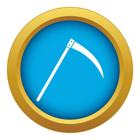 Scythe icon blue vector isolated