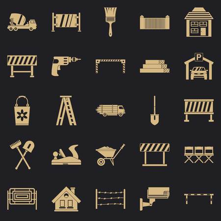 Security icons set. Simple set of 25 security vector icons for web for any design Illustration