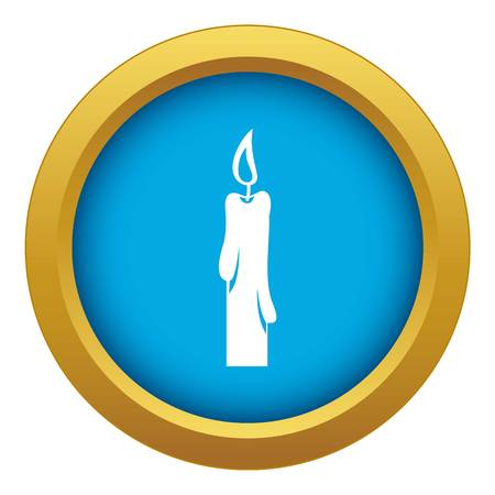 Candle icon blue vector isolated 矢量图像