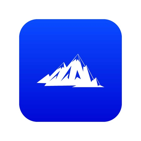 Canadian mountains icon digital blue for any design isolated on white vector illustration