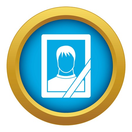 Memory portrait icon blue vector isolated Illustration