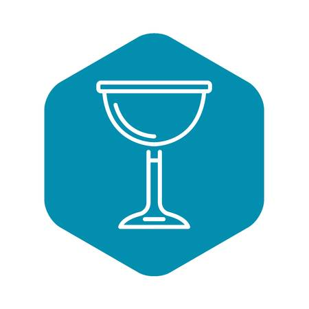 Jewish wine cup icon, outline style