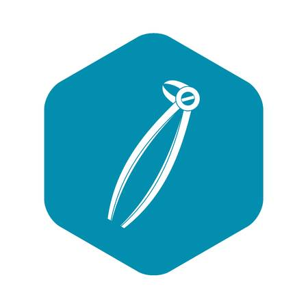Tooth dentist forceps icon. Simple illustration of tooth dentist forceps vector icon for web