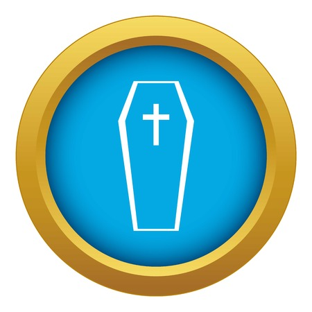 Coffin icon blue vector isolated Ilustrace