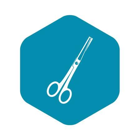 Steel scissors icon. Simple illustration of steel scissors vector icon for web Illustration