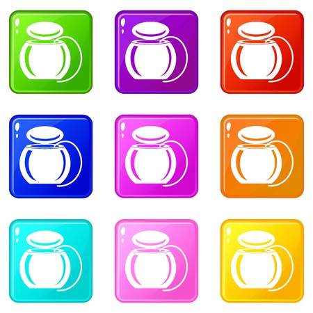 Dental floss icon. Simple illustration of dental floss vector icon for web