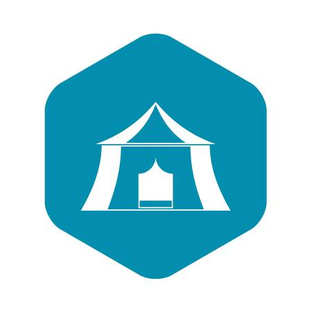 Hiking pavilion icon. Simple illustration of hiking pavilion vector icon for web