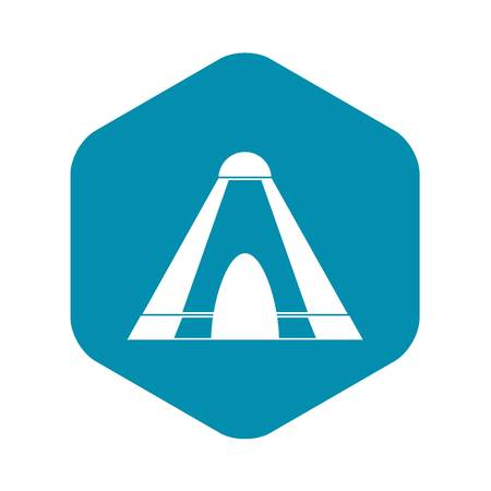 Tepee icon. Simple illustration of tepee vector icon for web Illustration