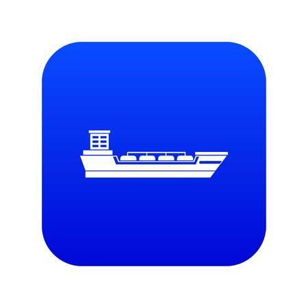 Oil tanker ship icon digital blue