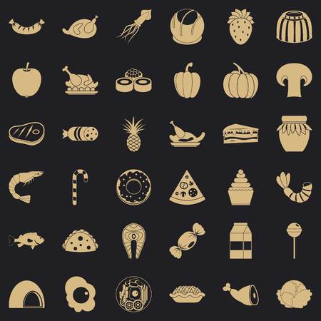 Flour icons set. Simple set of 36 flour vector icons for web for any design